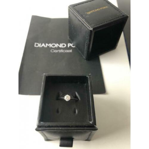 Hele mooie Diamond Point diamanten ring 0,4 caraat